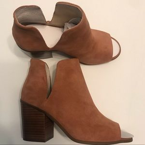 Sole Society Shoes - Sole Society Charliece Beown Peep Toe Bootie